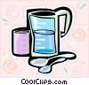 Vector Clip Art picture  of a water jugs