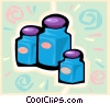 Vector Clip Art graphic  of a jars