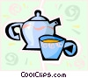Vector Clipart illustration  of a teapot
