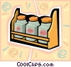 Vector Clip Art graphic  of a spice rack