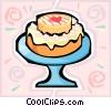 Vector Clip Art image  of a dessert