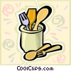 Vector Clipart image  of a utensils