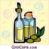 olive oil Vector Clipart illustration
