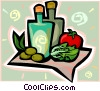 Vector Clip Art picture  of a olive oil
