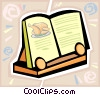 recipe book Vector Clipart illustration