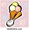 ice cream cones Vector Clip Art image