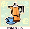 Vector Clip Art picture  of a coffee pots