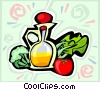 salad dressing Vector Clip Art graphic