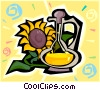 Vector Clip Art image  of a sunflower oil