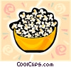 Vector Clipart graphic  of a popcorn bowl
