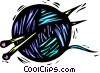 Vector Clip Art picture  of a ball of yarn