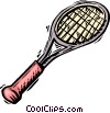 badminton racket Vector Clipart illustration