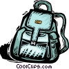 knapsack Vector Clipart illustration