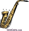 Vector Clip Art graphic  of a saxophone