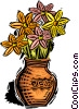 Vector Clipart image  of a flowers in a vase