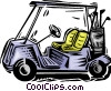 Vector Clipart illustration  of a golf cart