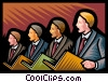 Vector Clip Art graphic  of a men in a choir