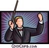 Vector Clip Art graphic  of a maestro