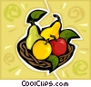 bowl of fruit Vector Clipart illustration