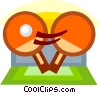 ping pong paddles Vector Clip Art picture