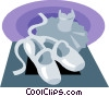 Vector Clipart illustration  of a ballerina shoes