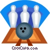 Vector Clip Art image  of a Bowling ball