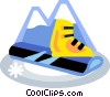 Vector Clip Art graphic  of a snowboard