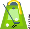 putting green Vector Clip Art image