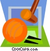 croquet game Vector Clipart illustration