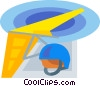 Vector Clip Art graphic  of a hang glider