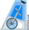Vector Clip Art graphic  of a unicycle