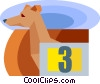 racing dog Vector Clipart illustration