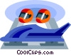 Vector Clipart graphic  of a bobsledding equipment