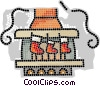 stockings hanging by the chimney Vector Clip Art picture