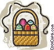 basket of Easter eggs Vector Clip Art picture