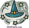 Vector Clip Art graphic  of a witches hat