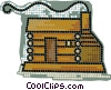 Vector Clip Art image  of a log homes
