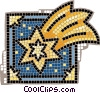 Vector Clip Art graphic  of a shooting stars