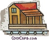country homes Vector Clipart image