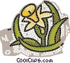 Wild Flowers Vector Clipart picture