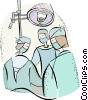 surgical operation Vector Clipart illustration