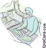 surgery nurse Vector Clip Art picture