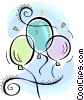 Vector Clip Art picture  of a balloons