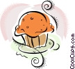 Vector Clip Art graphic  of a muffin