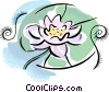 water lily Vector Clip Art graphic