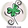 Vector Clipart graphic  of a shamrock