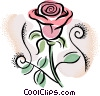 Vector Clip Art graphic  of a rose
