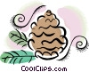 Vector Clipart illustration  of a pine combs