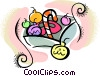 Vector Clipart image  of a Christmas decorations