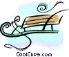 Vector Clipart illustration  of a sled